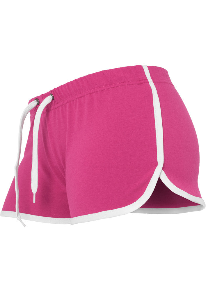 Ladies French Terry Hotpants TB363 Pink