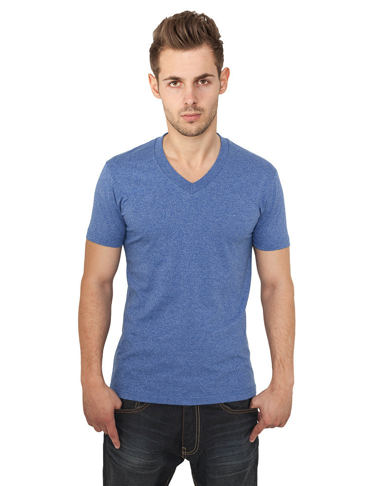 Melange V-Neck TB368  Blue