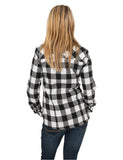 Ladies Checked Flanell Shirt TB388 Black