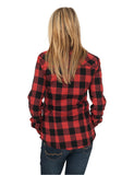 Ladies Checked Flanell Shirt TB388 Red
