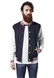 3-tone College Sweatjacket TB444 nvywhtrub Navy