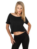 Ladies Short Tee TB463 Black