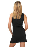 Ladies Sleeveless Dress TB464 Black