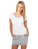 Ladies French Terry Skirt TB466 Grey
