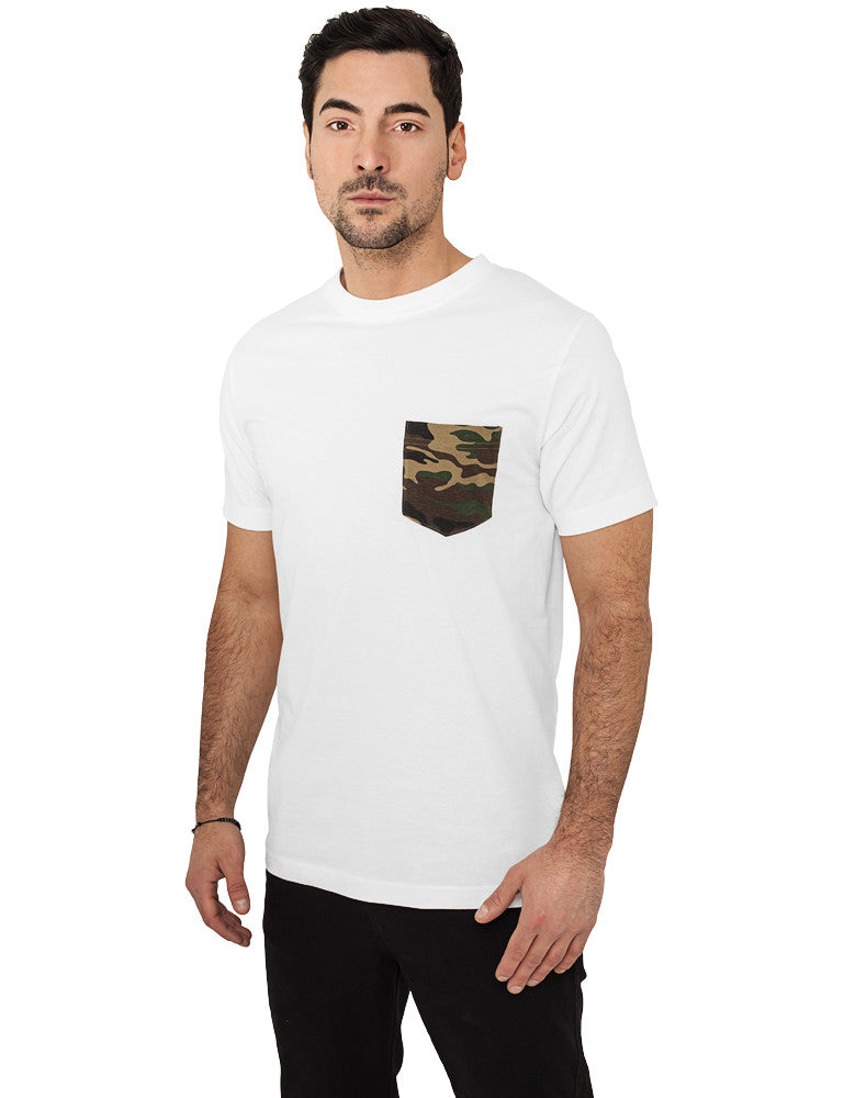 Camo Pocket Tee TB492 White