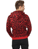 Zebra Zip Hoody TB506  Red