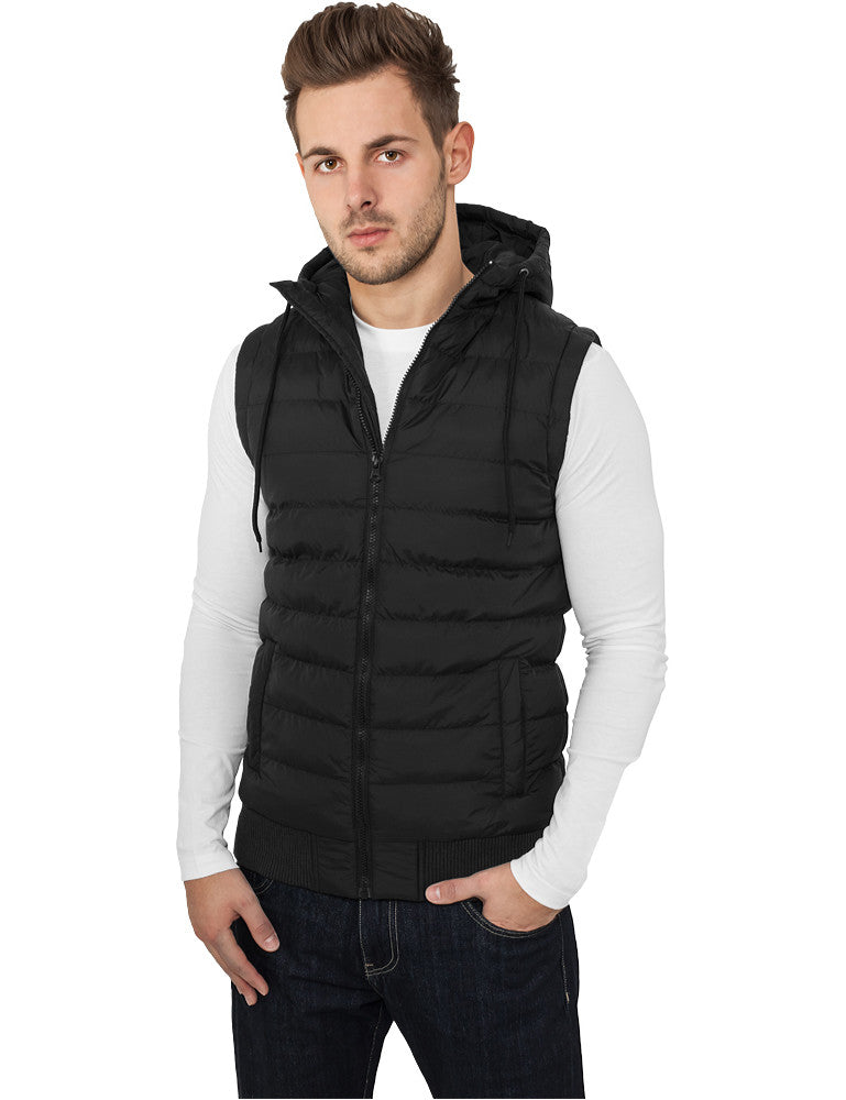 Small Bubble Hooded Vest TB510 Black