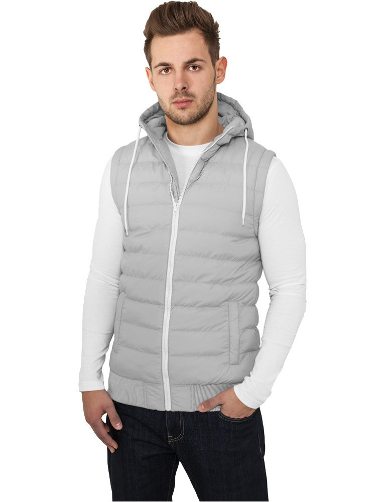 Small Bubble Hooded Vest TB510 Grey