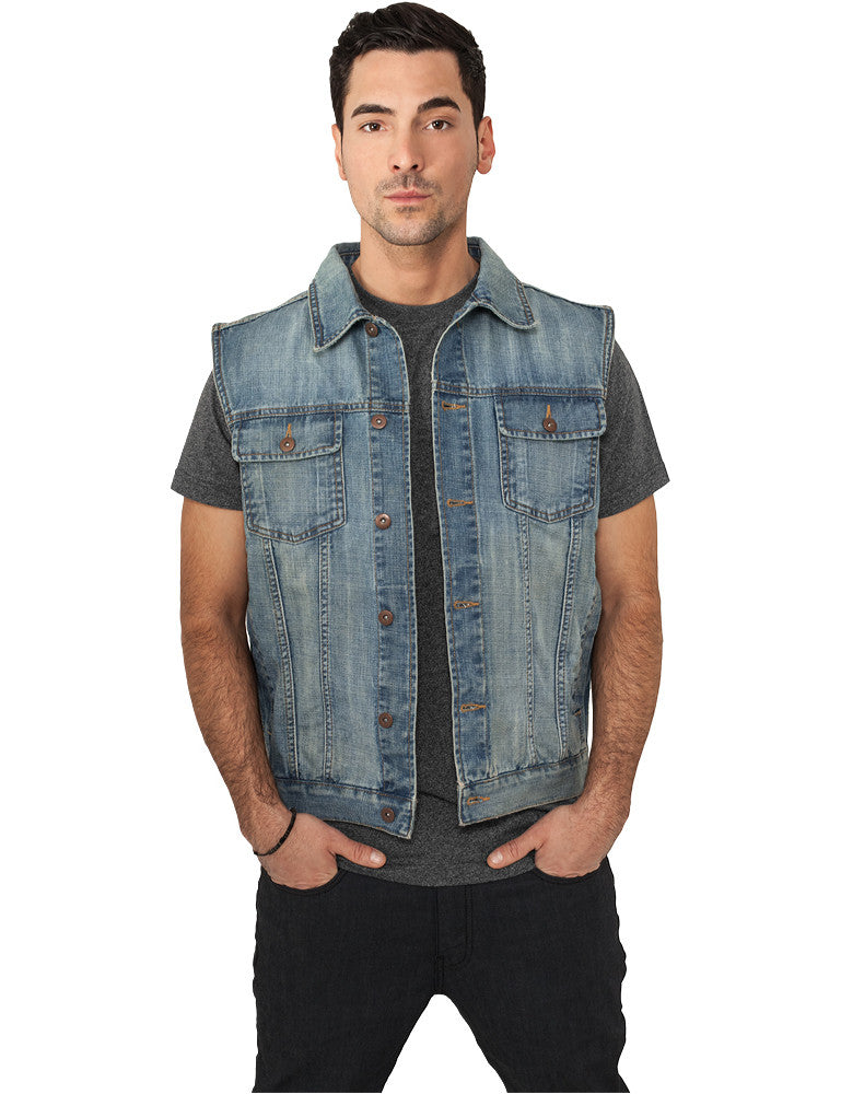 Denim Vest TB514 Light Blue