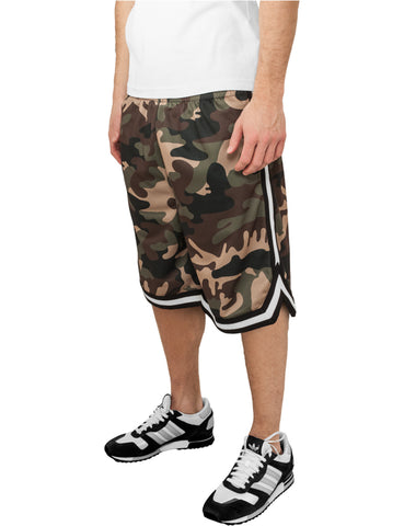 Camo Stripes Mesh Shorts TB649  Camo