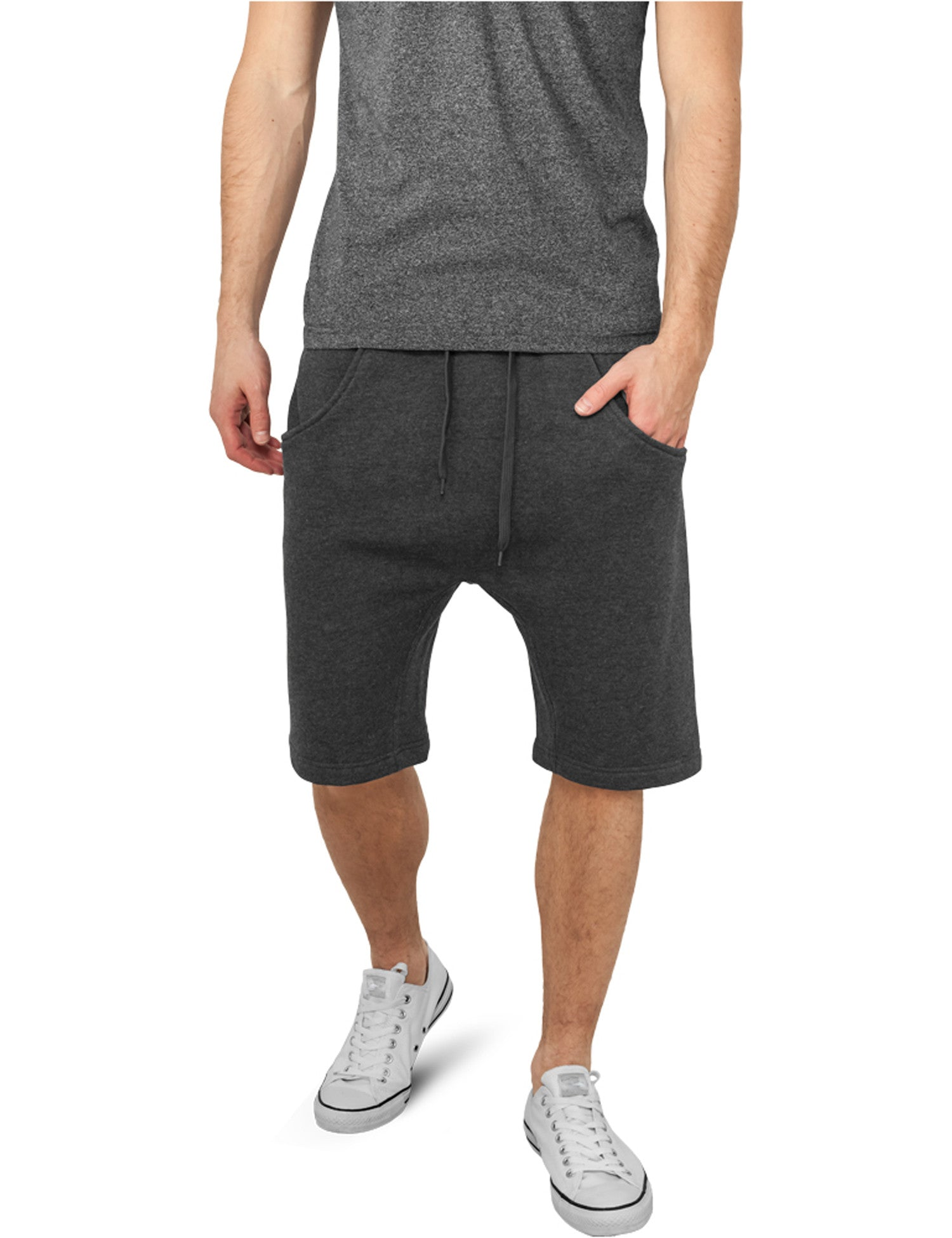Light Deep Crotch Sweatshorts TB662 Grey