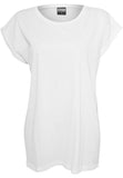 Ladies Extended Shoulder Tee TB771 White
