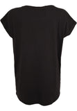 Ladies Extended Shoulder Tee TB771 Black