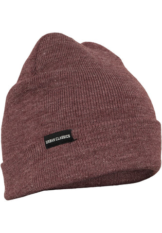 Basic Flap Beanie Burgundy TB811 Red
