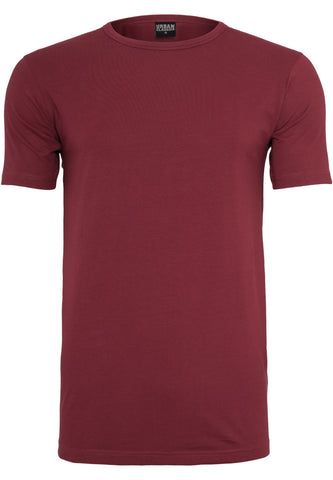 Fitted Stretch Tee Burgundy TB814 Red