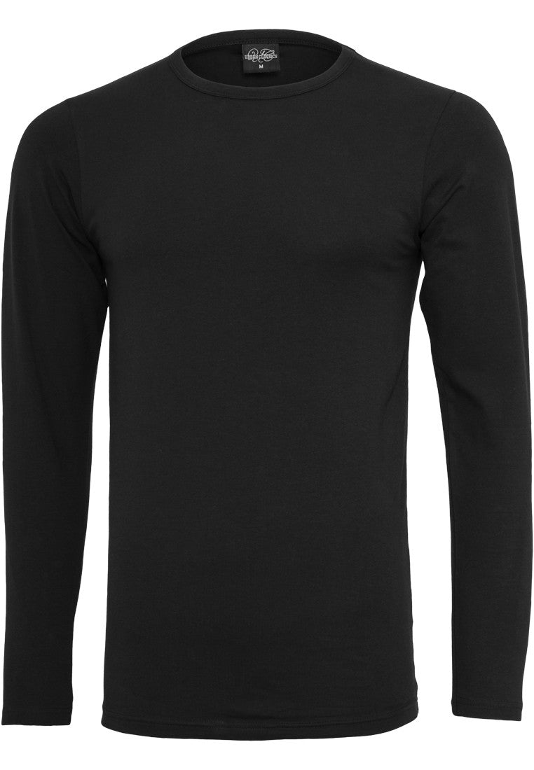 Fitted Stretch L/S Tee TB816 Black