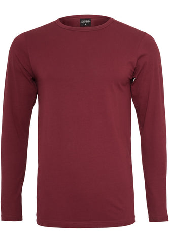 Fitted Stretch L/S Tee Burgundy TB816 Red