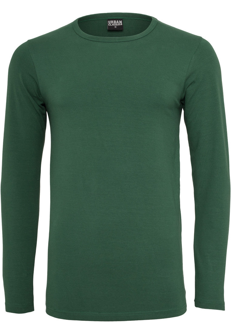 Fitted Stretch L/S Tee Forest TB816 Green