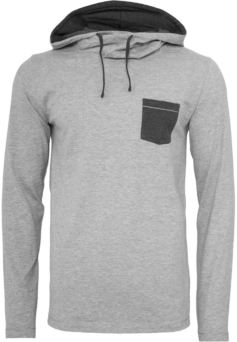 High Neck Pocket Hoody TB831 Grey
