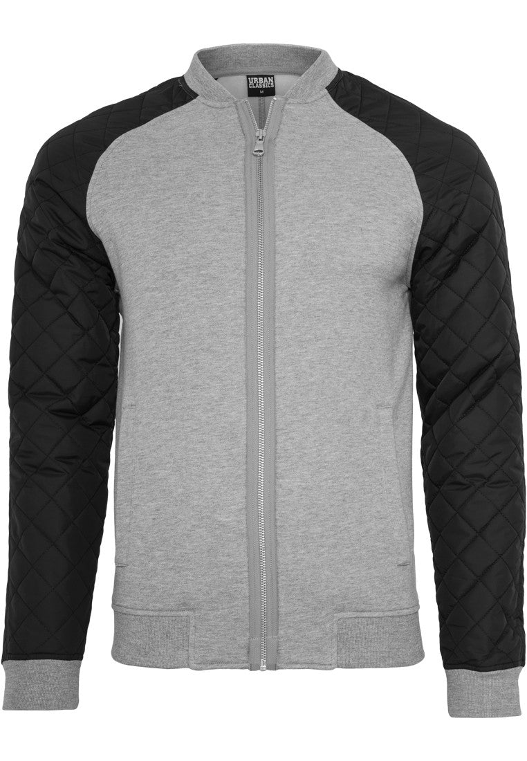 Diamond Nylon Sweatjacket TB859 Grey