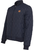 Diamond Quilt Nylon Jacket TB862 Navy