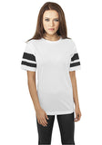 Ladies Stripe Mesh Tee TB901 White