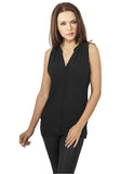 Ladies Sleeveless Chiffon Blouse TB912 Black