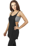 Ladies Side Knotted Loose Tank TB915 Black