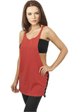 Ladies Side Knotted Loose Tank TB915 Red