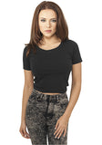 Ladies Cropped Tee TB917 Black