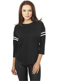 Ladies Sleeve Striped L/S Tee TB927 Black