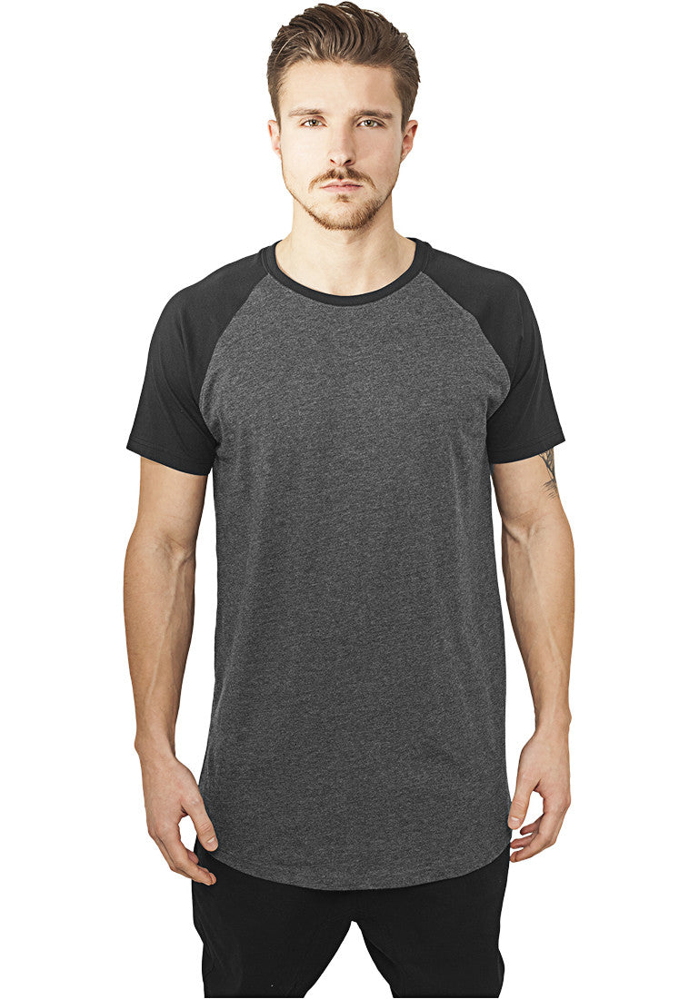 Shaped Raglan Long Tee TB966 Grey