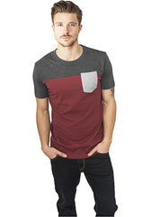 3-Tone Pocket Tee TB969 Brown
