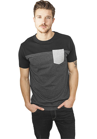 3-Tone Pocket Tee TB969 Grey
