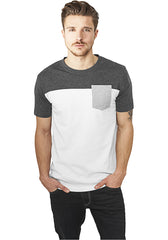 3-Tone Pocket Tee TB969 White