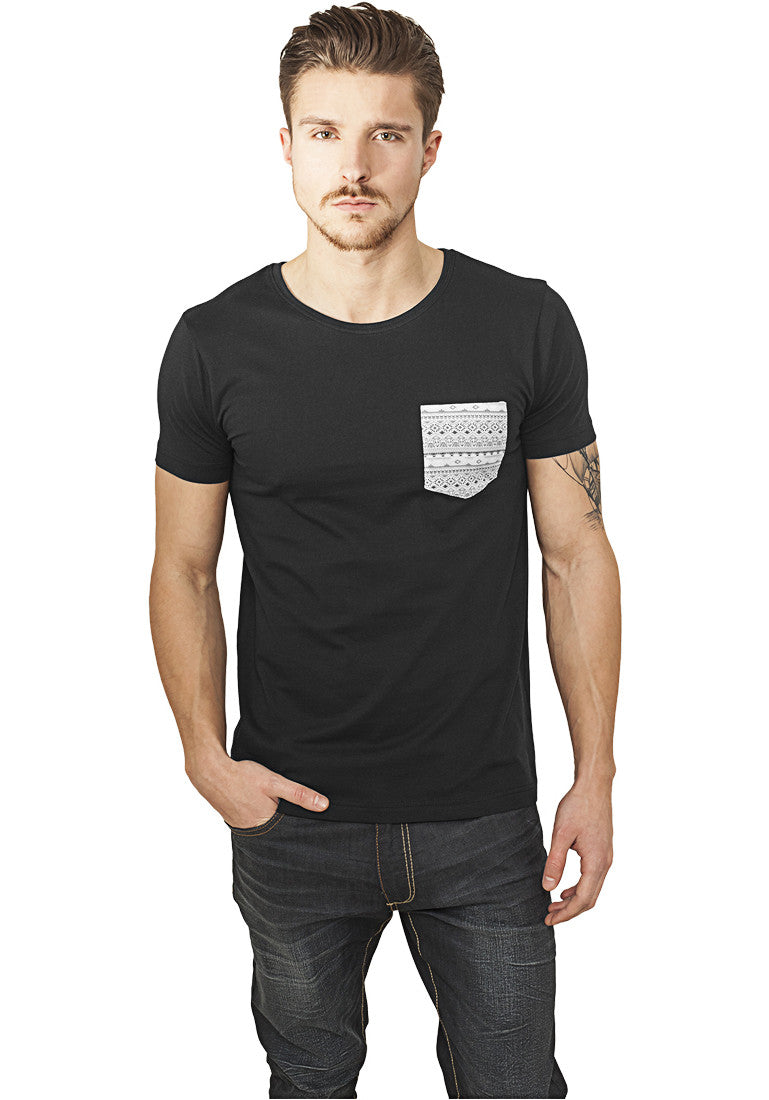 Contrast Pocket Tee TB971 Black