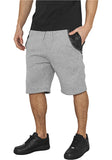 Side-Zip Leather Imitation Sweatshorts TB982 Grey