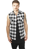 Sleeveless Checked Flanell Shirt TB999 Black