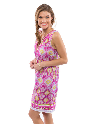 Mira Sleeveless Dress Ikat