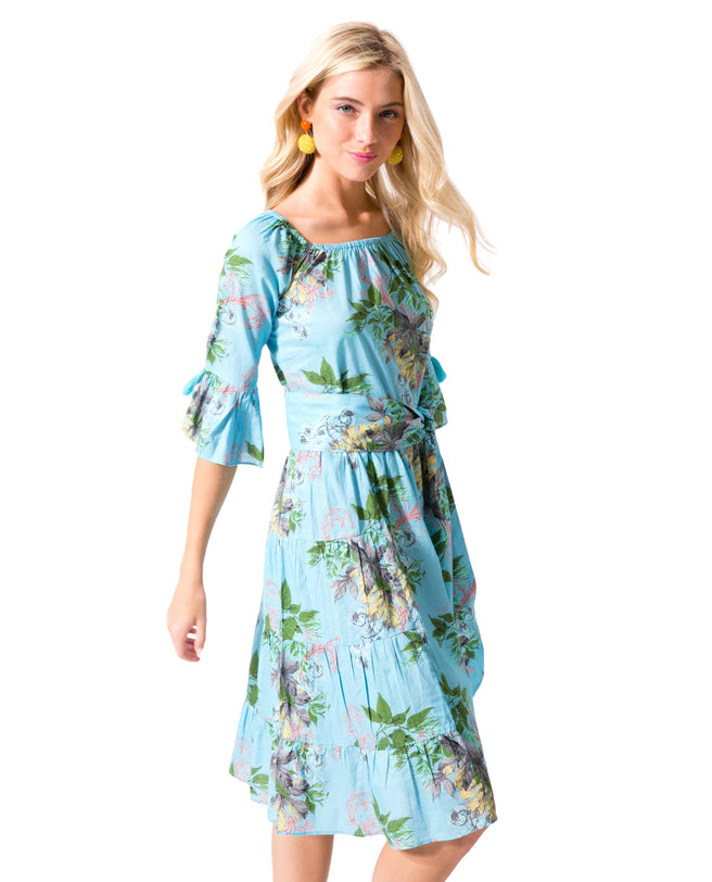 Leaves OTS Dress