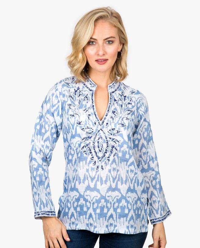 Ikat Applique Tunic