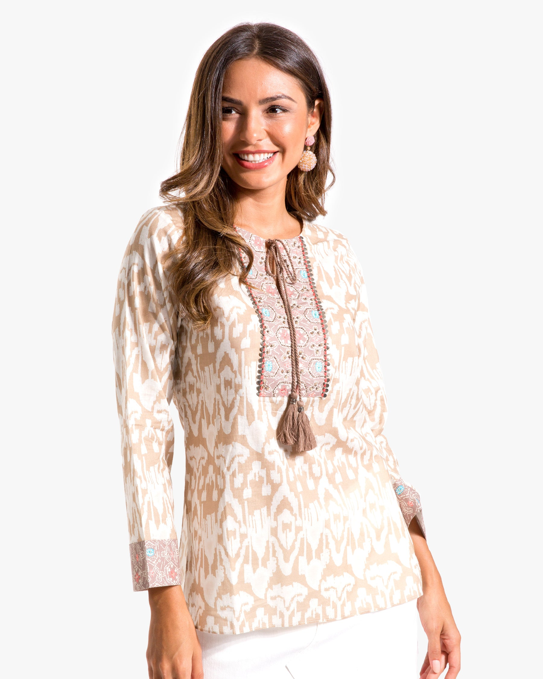 Ikat Tunic with Tie