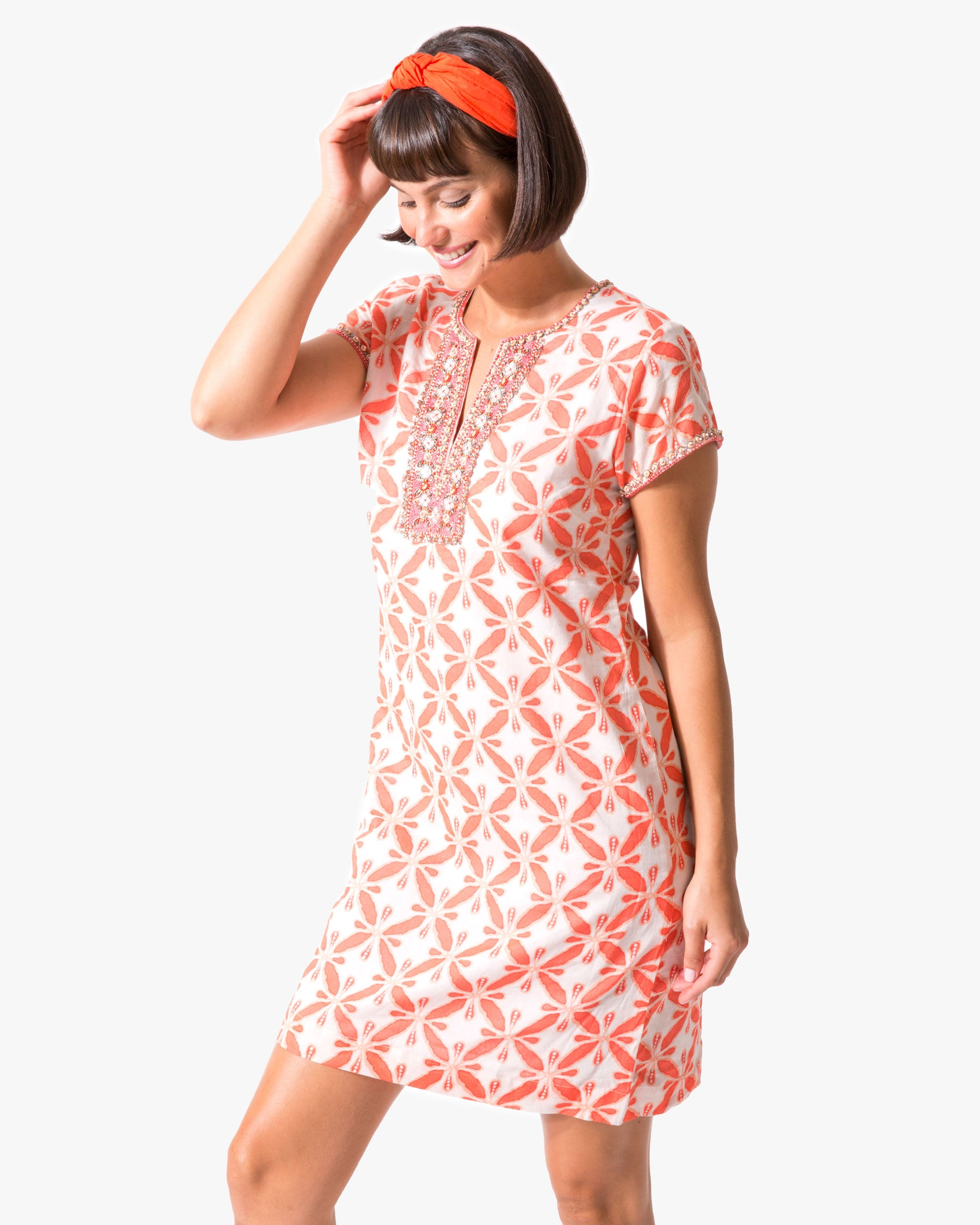 Marni Cap Sleeve Dress