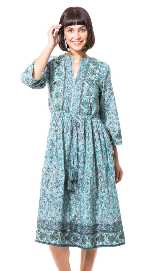 "Sylvia 44"" Peasant Dress"