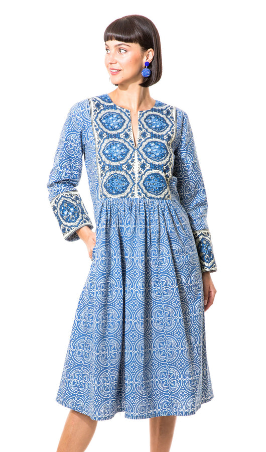 "Camilla 44"" Peasant Dress"