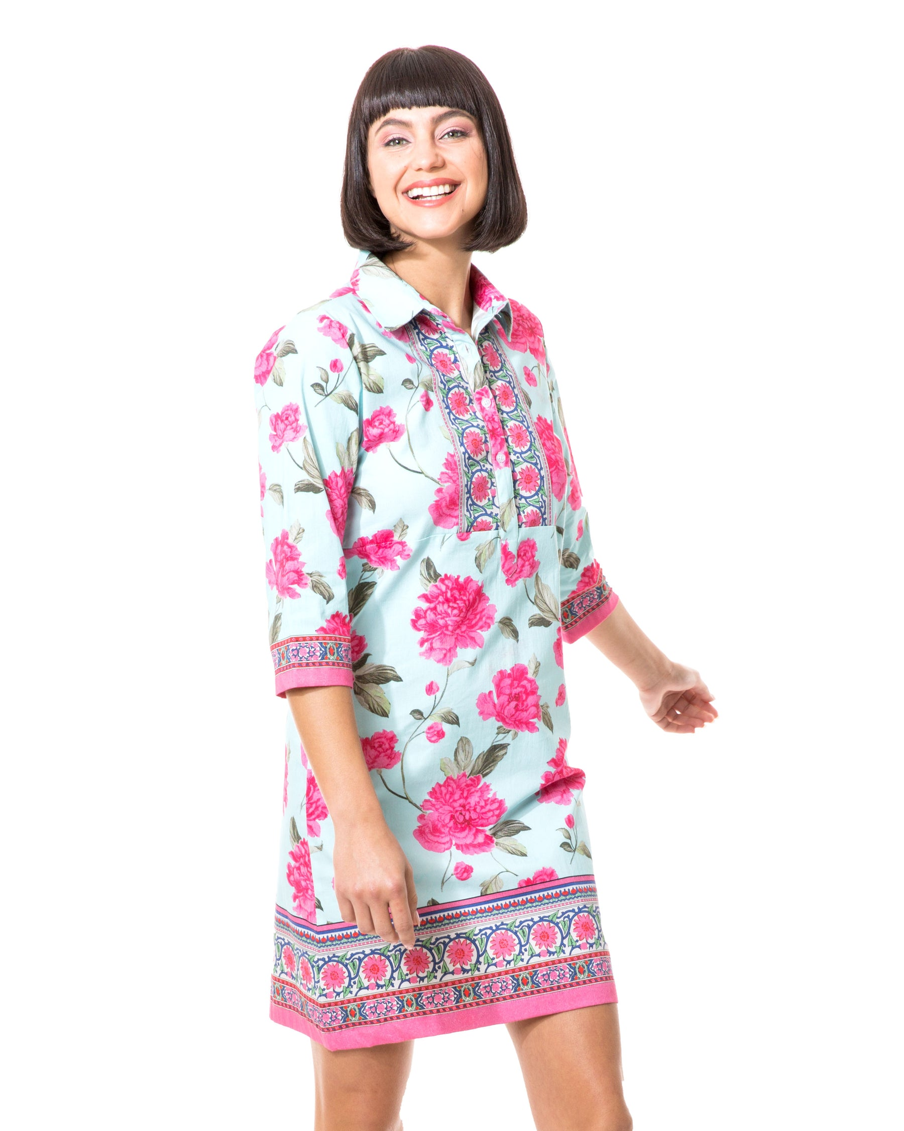Peony Shirt Dress
