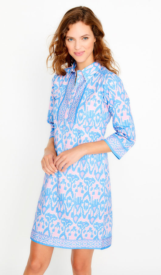 Ikat Shirtdress