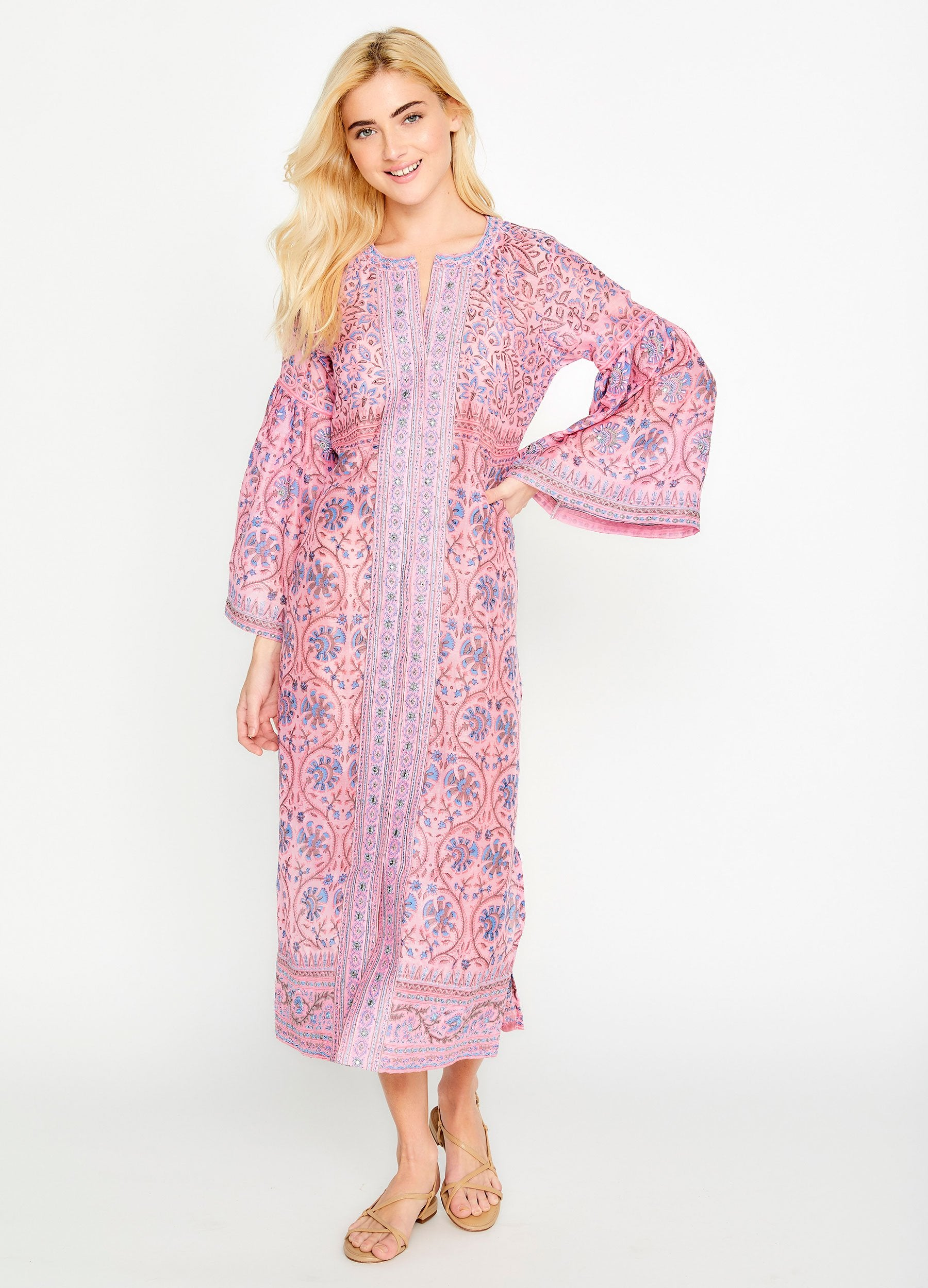 Cora Button Down Caftan
