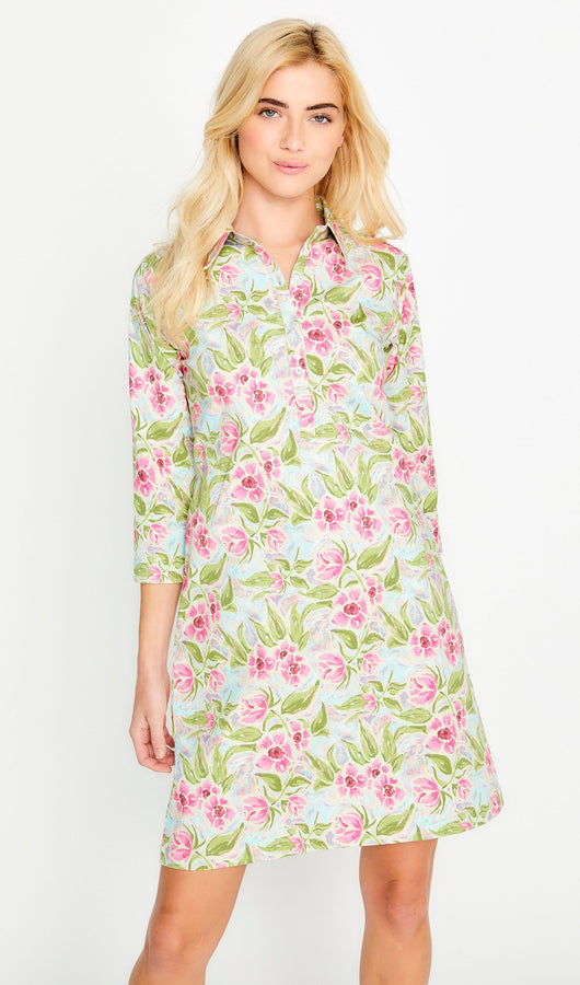 Paintflower Shirt Dress