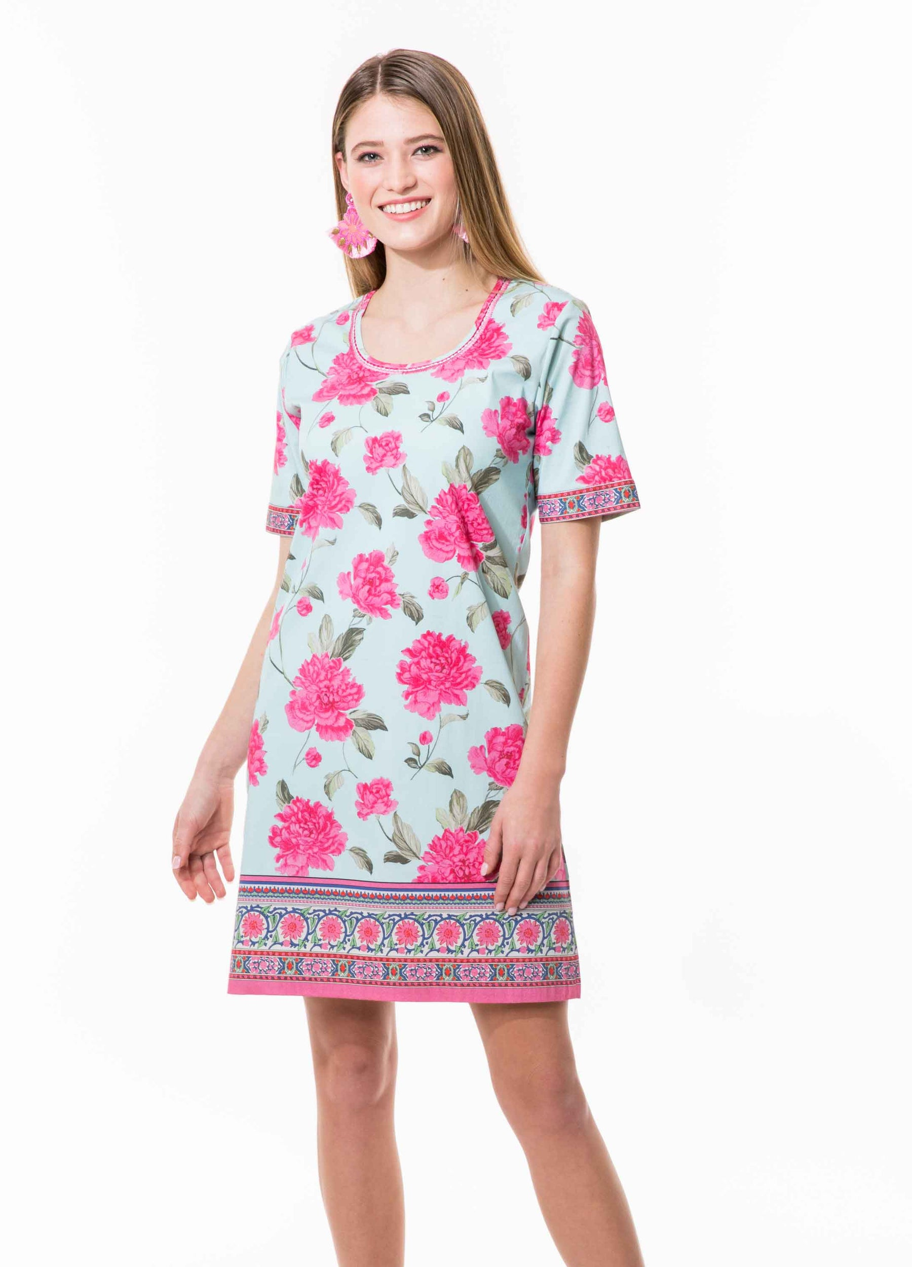Peony T Shirt Dress
